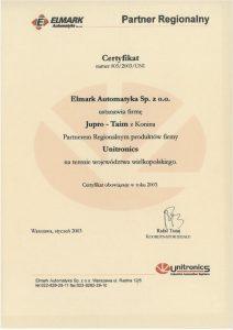 partner regionalny produktów Unitronics, których producentem jest Elmark Automatyka
