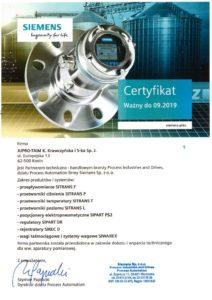 certyfikat od firmy SIEMENS, promocja SIMATIC S7-1500, w zestawie jednostka centralna, intefejs komunikacyjny, moduł wejść binarnych oraz aktualizacja oprogramowania STEP7 Basic V14